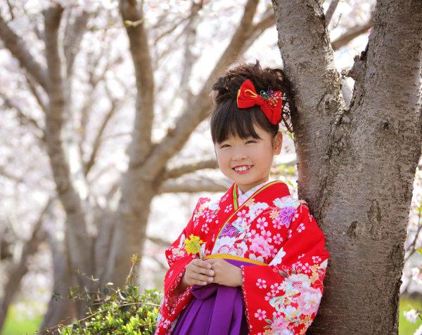 女の子袴姿の写真