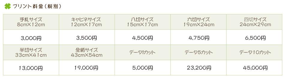 プリント価格202103